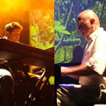 Lunz (l-r) Tim Story and Hans-Joachim Roedelius